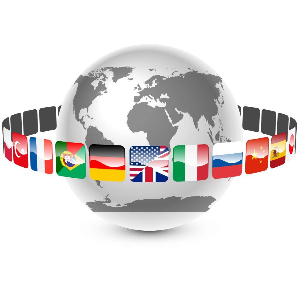 Земной шар с флагами