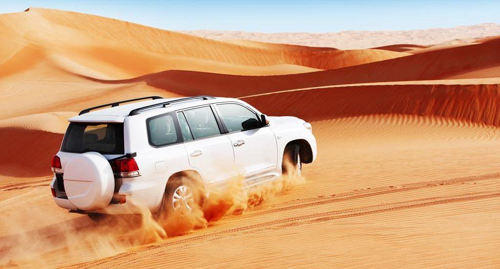 A car trip in the desert