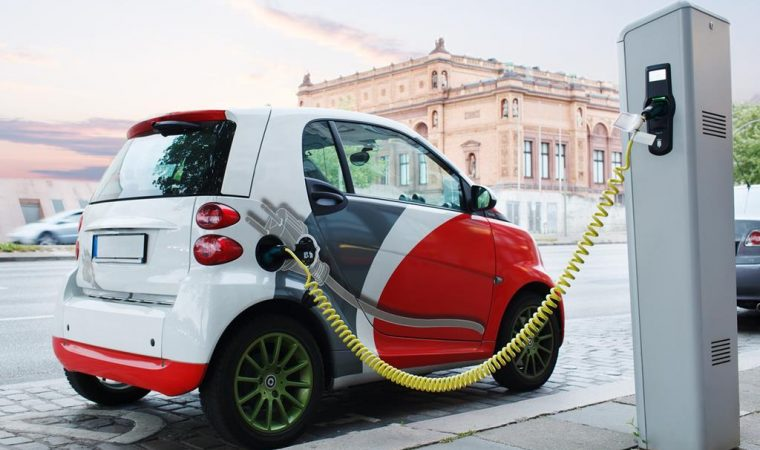 Electric cars on the road