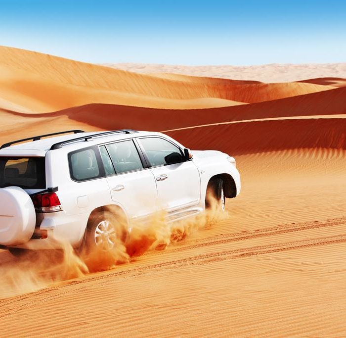 Autoreisen in der Wüste
