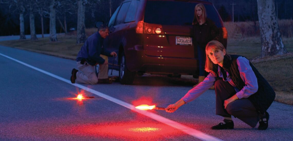 Why does a car need a road flare?