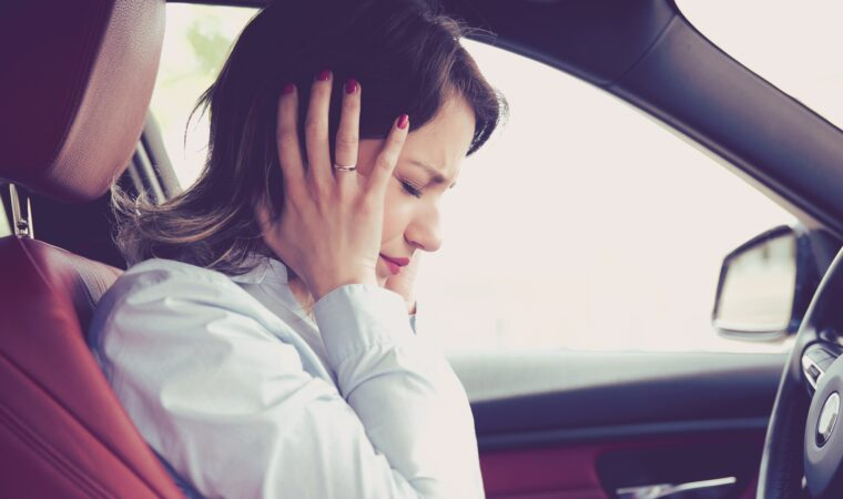 What should you do if you hear squeaks in the car?